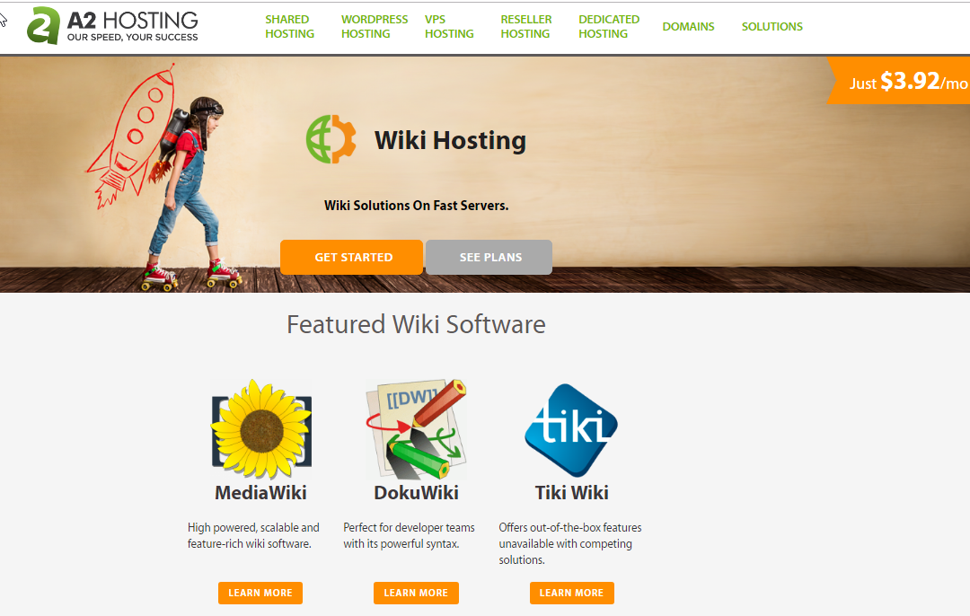 A2Hosting wiki Hosting