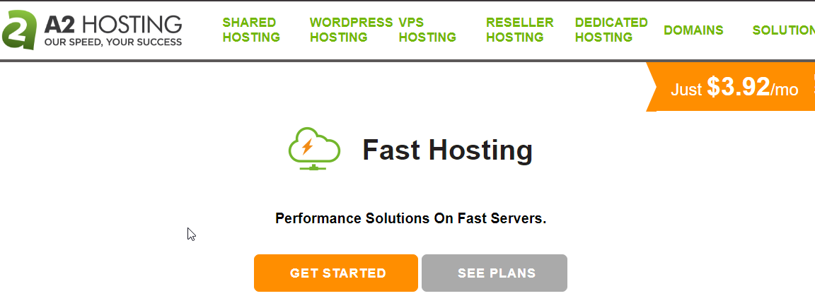 A2Hosting Speed