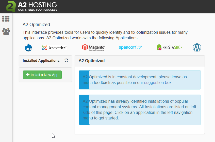 A2 Optimized CMS Auto-Installer in cPanel