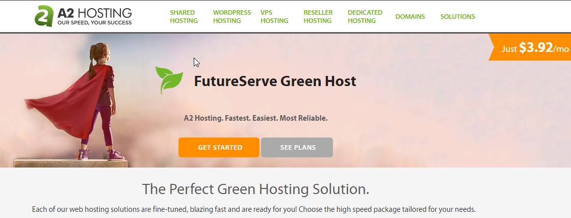 A2Hosting greenserver