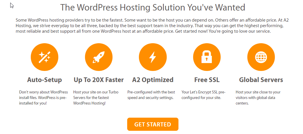 A2hosting wordpress hosting features