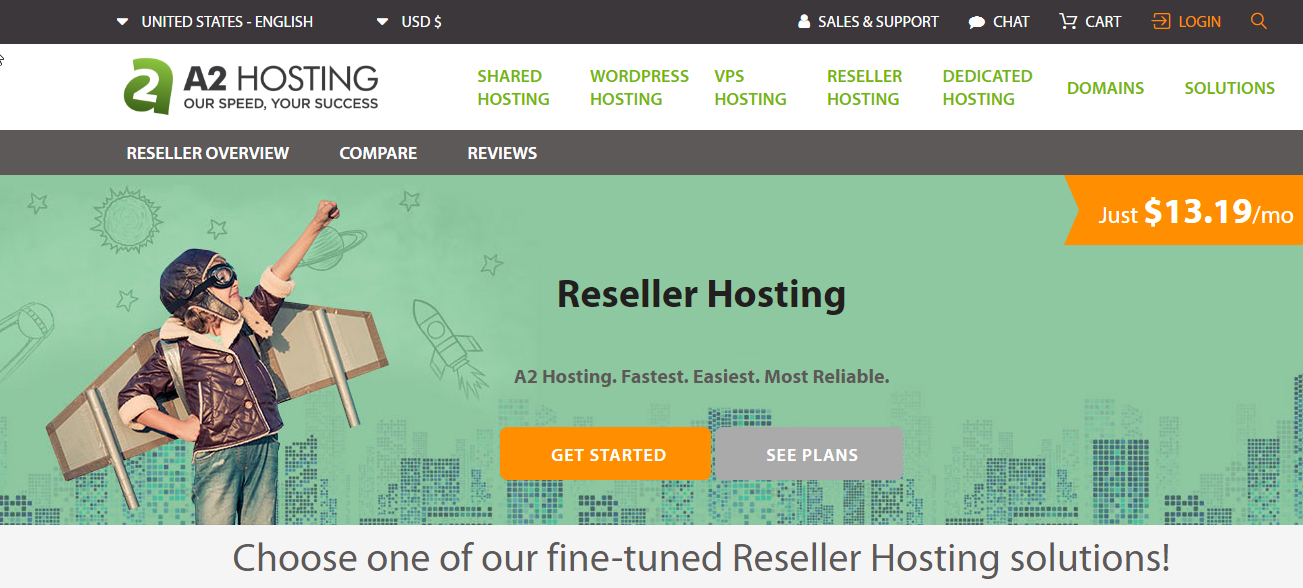 A2Hosting best reseller hosting