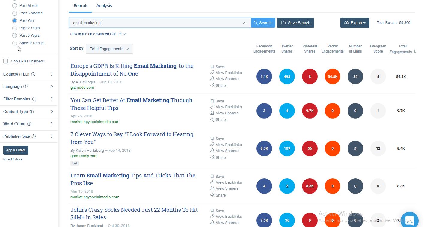 find popular posts on buzzsumo