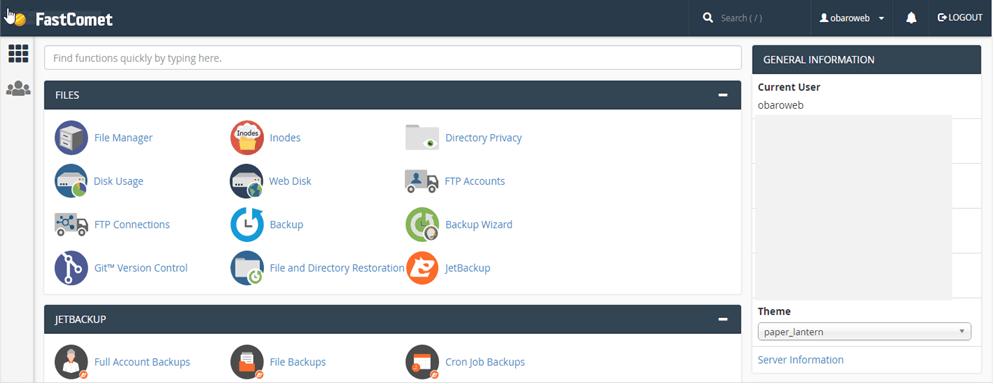 web hosting cpanel account