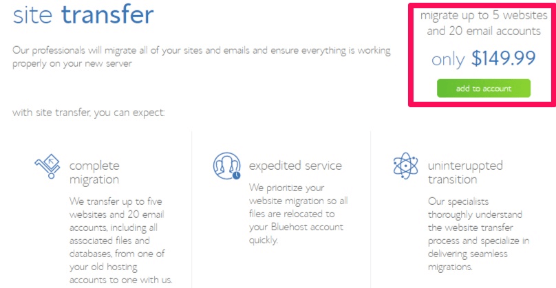 Bluehost-site-transfer