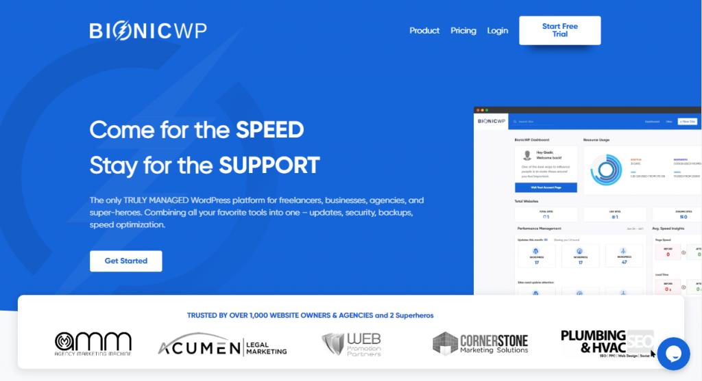 Bionicwp managed wordpress hosting