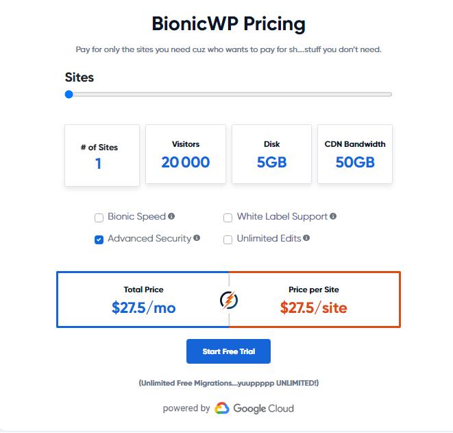 Bionicwp hosting plans