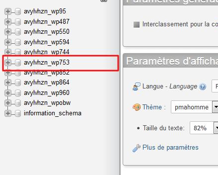 Find your database in phpMyAdmin