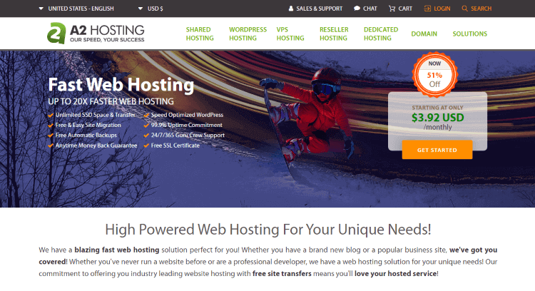 A2 Hosting cheap hosting offers