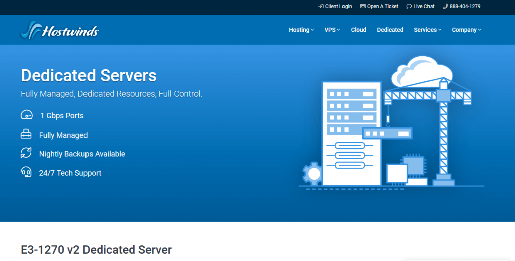 Hostwinds Dedicated server