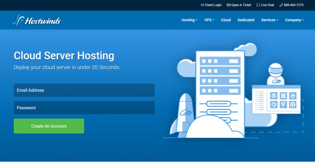 Hostwinds cloud hosting